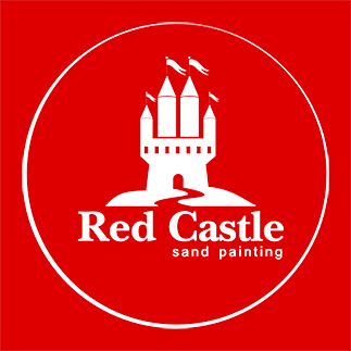 Planșe Pictură Cu Nisip Colorat Originale Red Castle